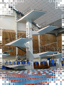 view of diving platform
